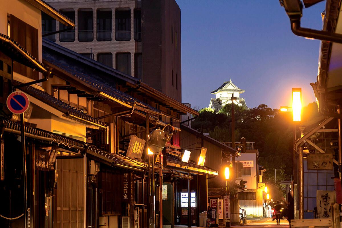 犬山城と城下町