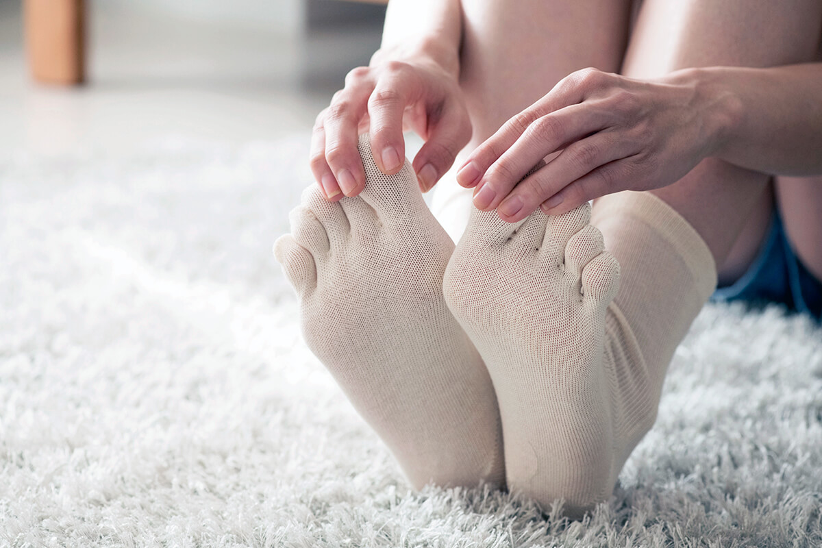 足指 広げるソックス(イメージ)