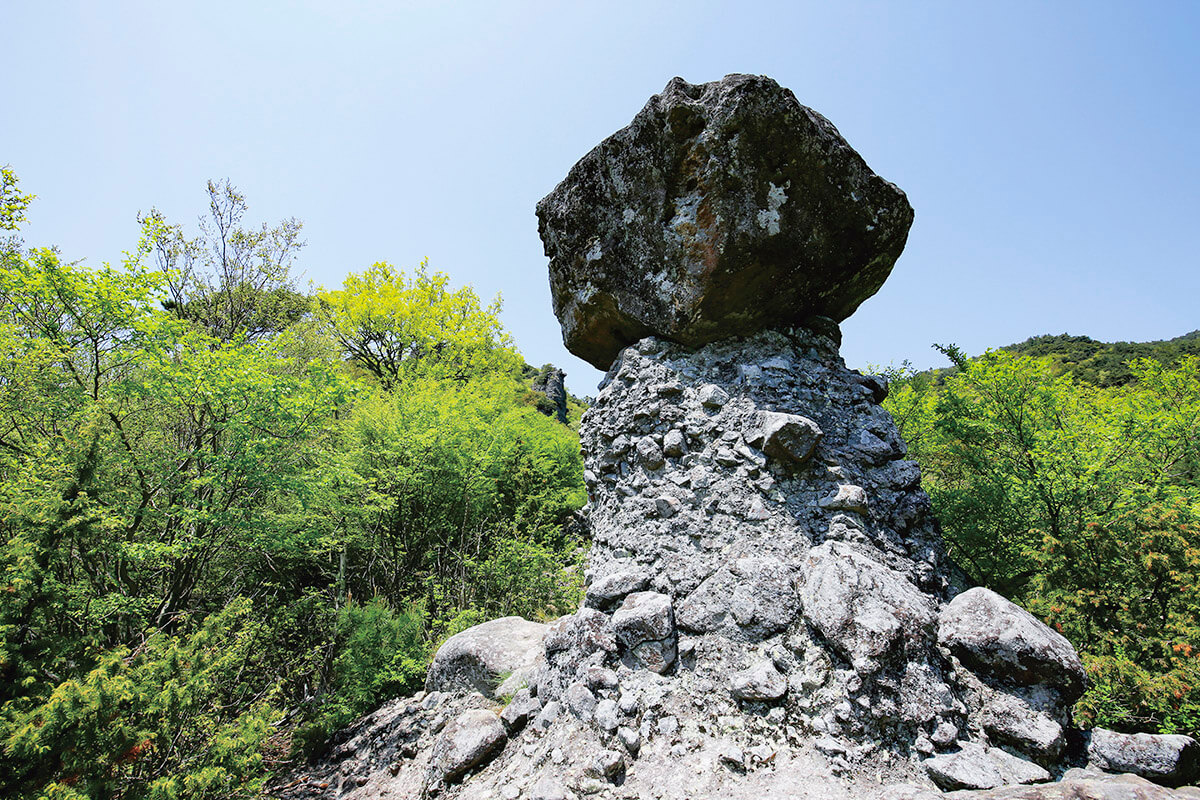 寒霞渓 松茸岩と鹿岩