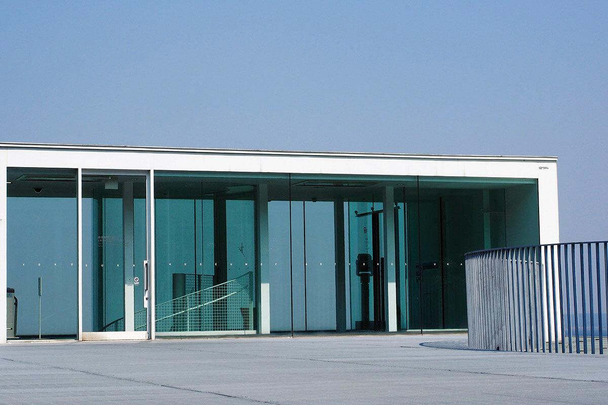 横須賀美術館の屋上