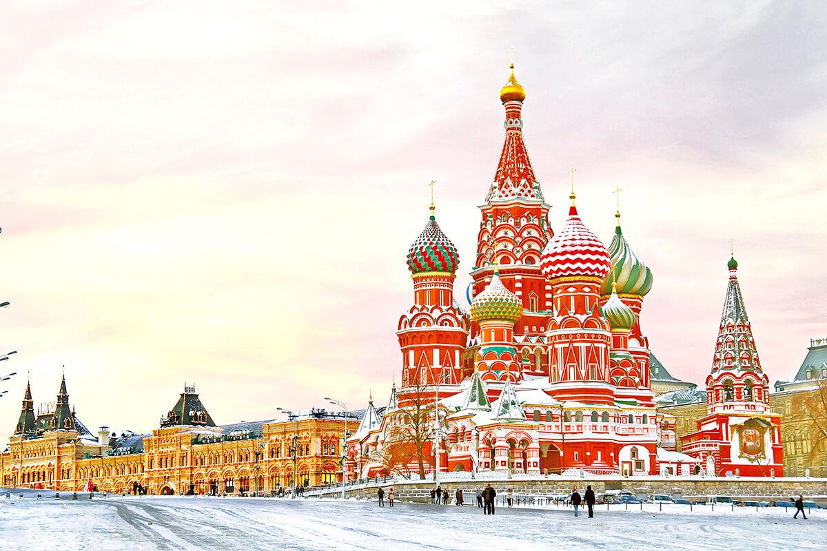 モスクワ 赤の広場の聖ワシリー大聖堂