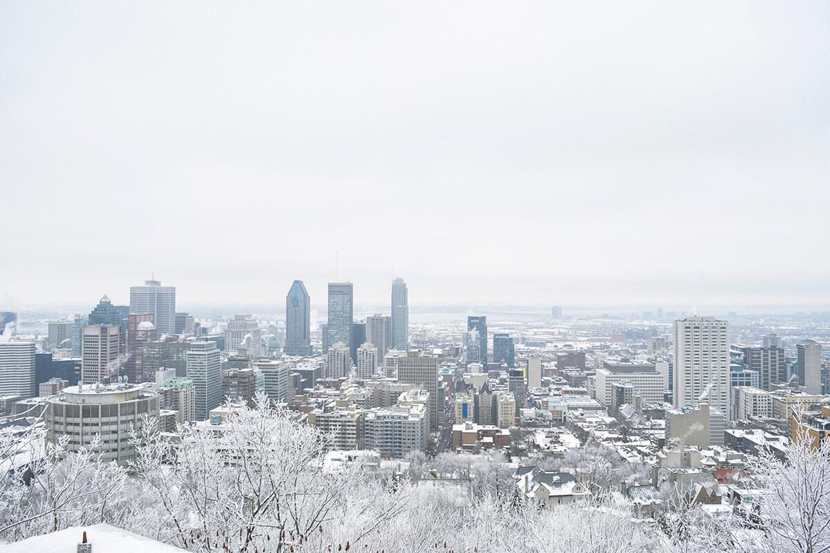 モントリオールの街並み(冬)