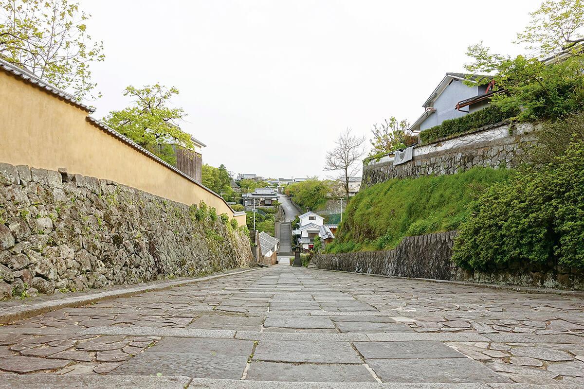 杵築の城下町 酢屋の坂