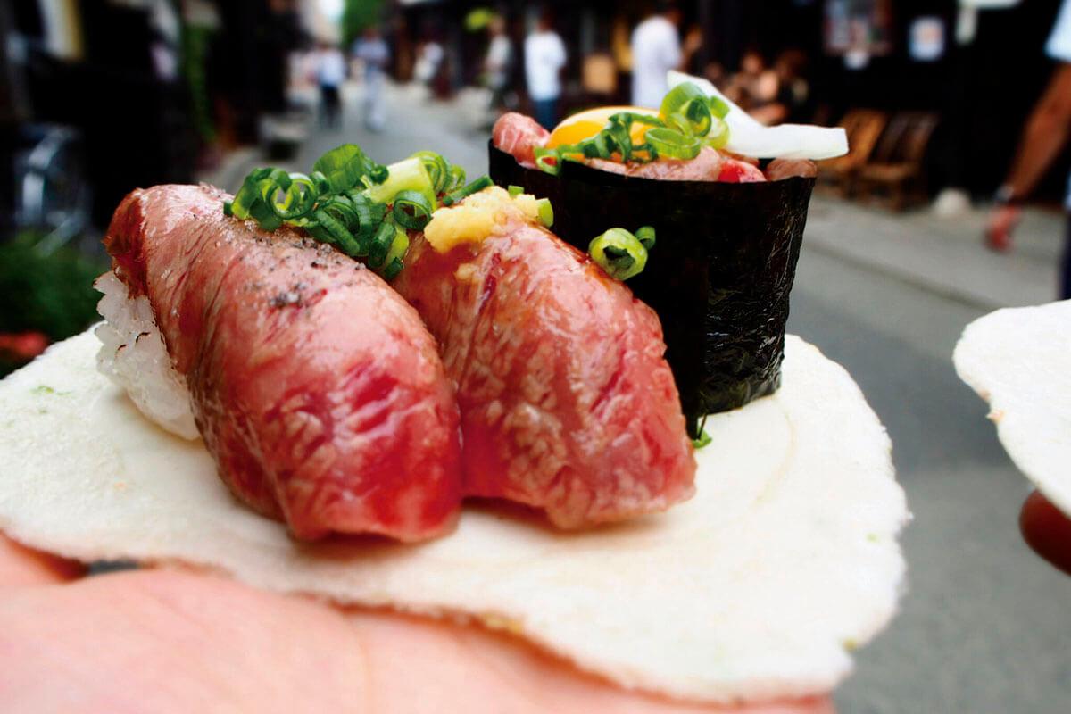 飛騨牛寿司 三種盛り