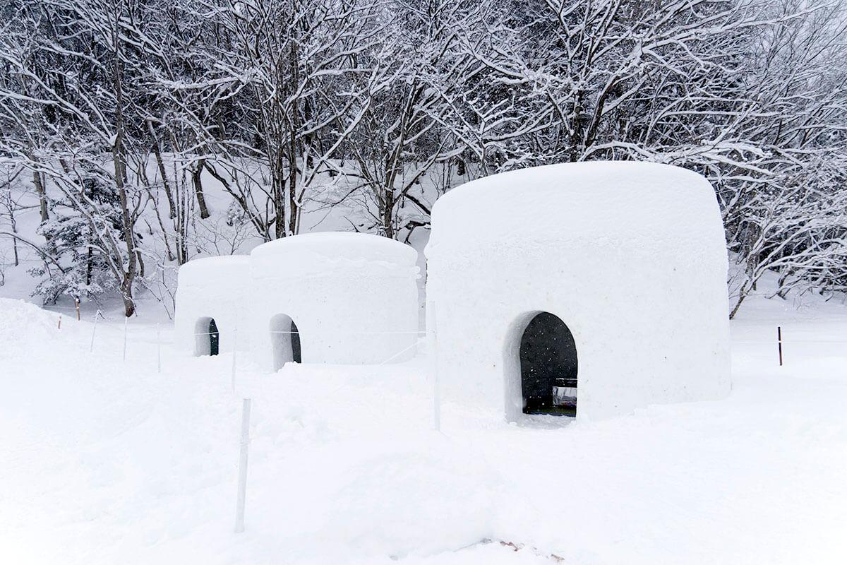 「湯西川温泉 かまくら祭」 かまくら