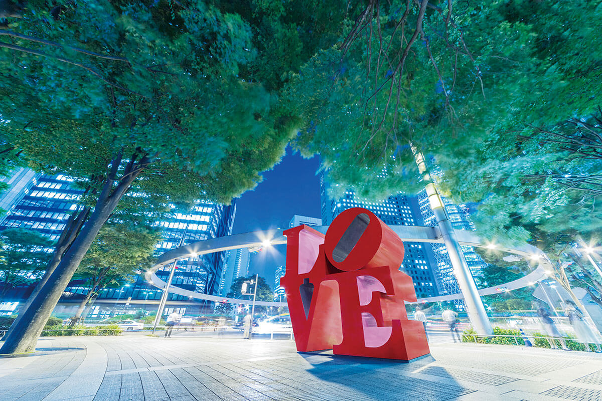 新宿アイランドタワー LOVEのオブジェ
