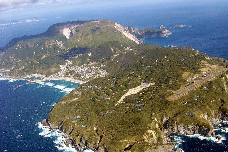 上空から見た神津島