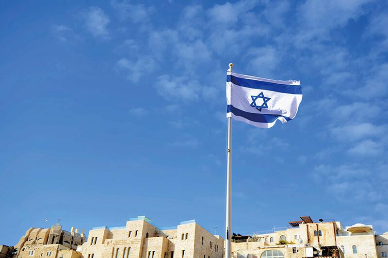 エルサレム イスラエル国旗