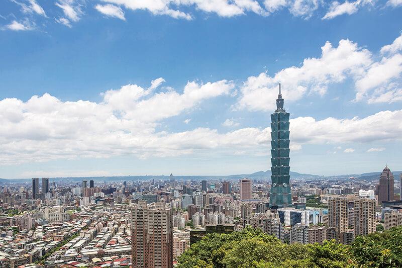 台北101がそびえる台北の街並