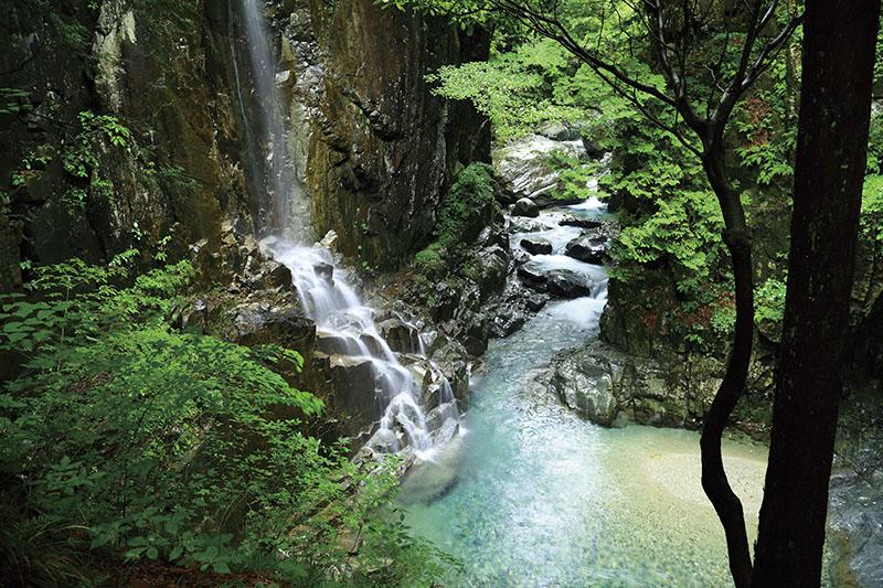 付知峡の不動滝