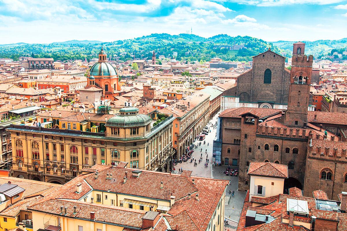 ボローニャ 旧市街の景色