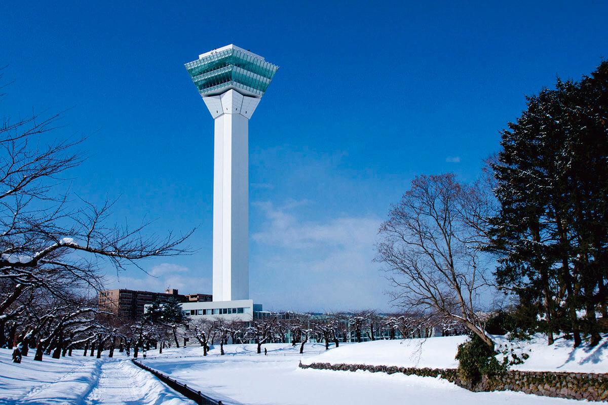 五稜郭タワー 雪景色