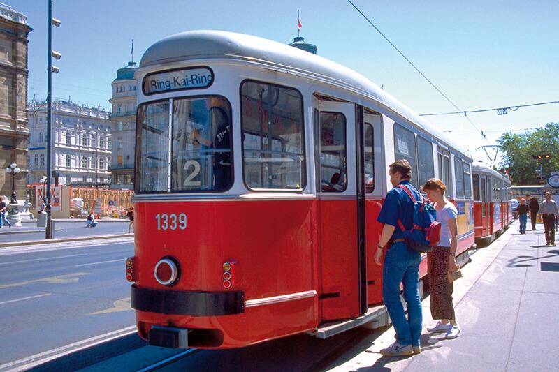 オーストリア ウィーンのトラム