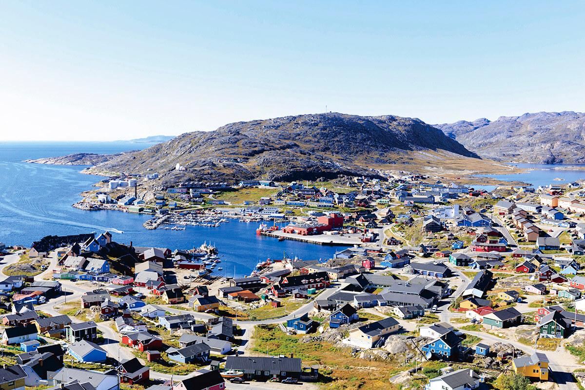 グリーンランドの街並み