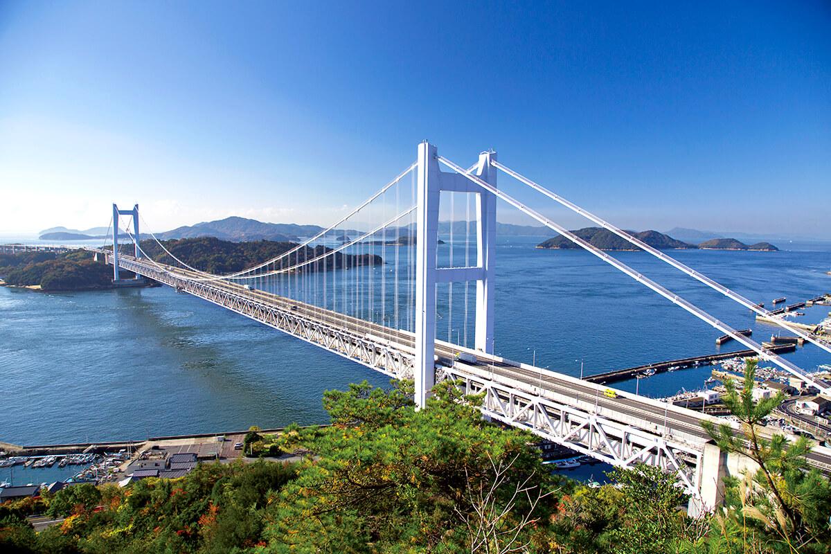 瀬戸大橋を展望台から眺める 鷲羽山からの眺め