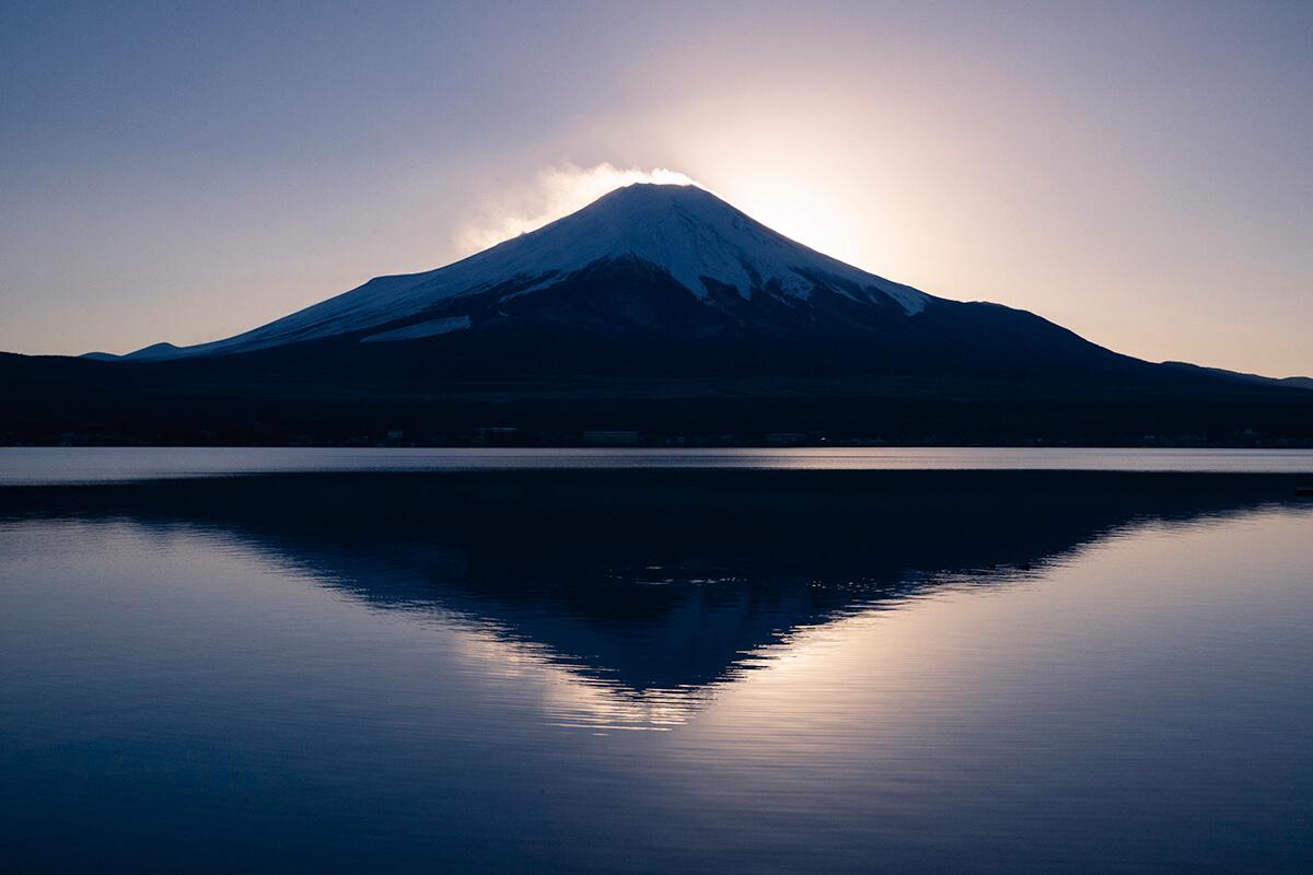 山中湖 ダイヤモンド富士
