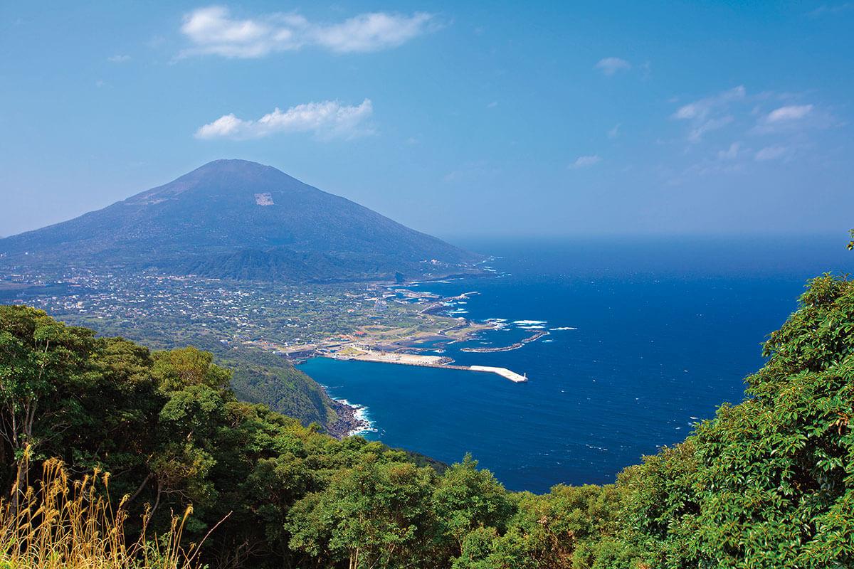登龍峠の展望 八丈富士