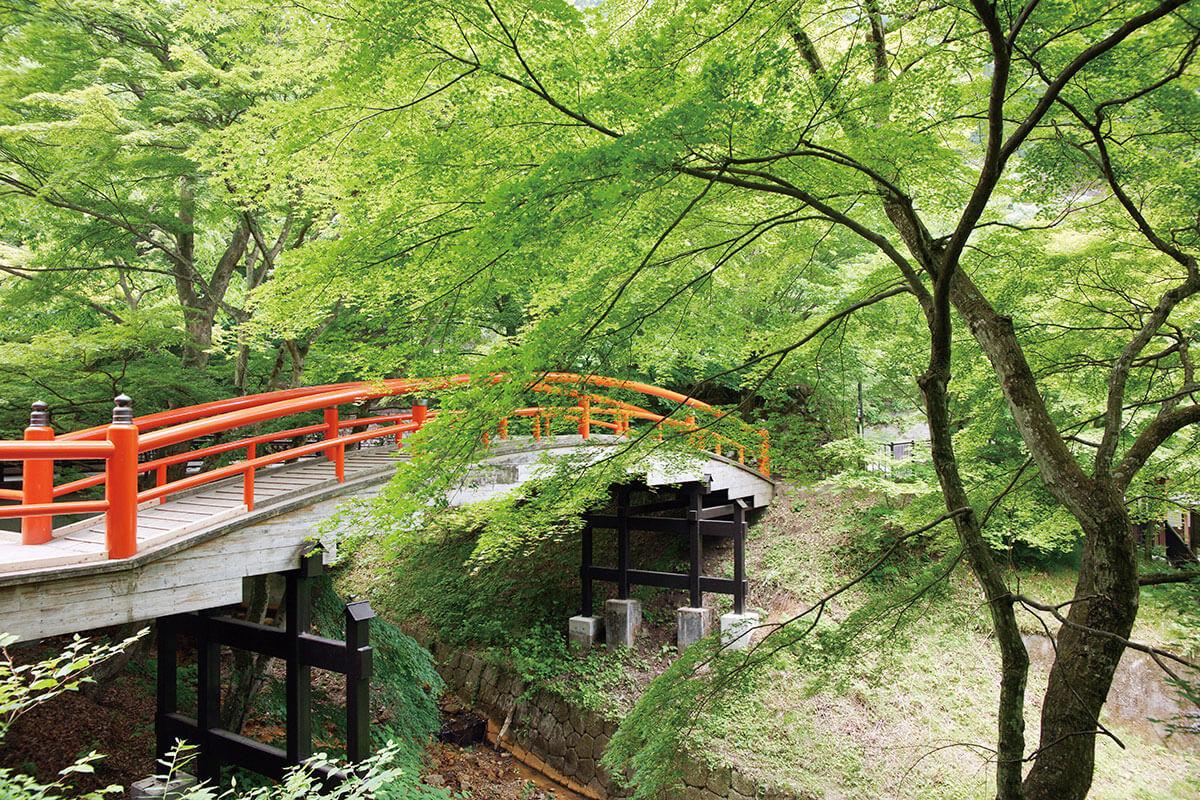伊香保温泉 河鹿橋 新緑の時期