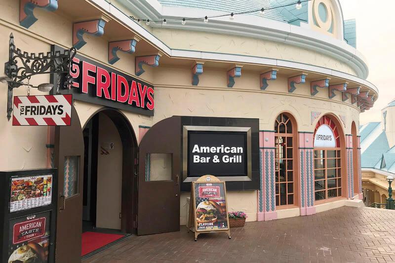T.G.I. FRIDAY'Sなど人気のレストランが並びます