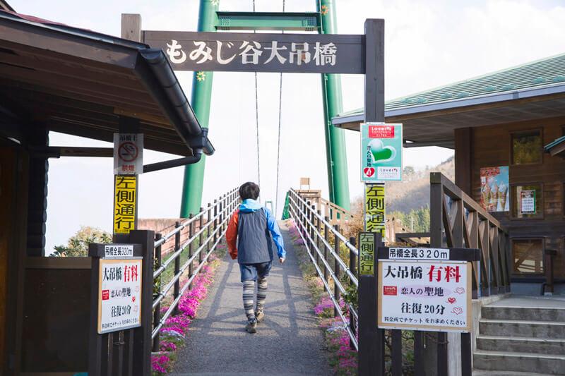 栃木県那須塩原市 もみじ谷大吊橋