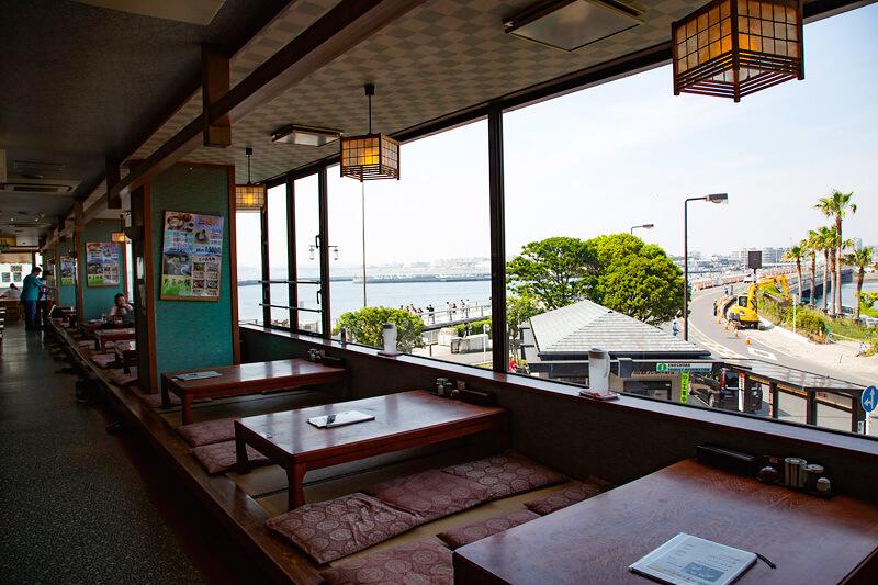 貝作・二階レストランからの眺め