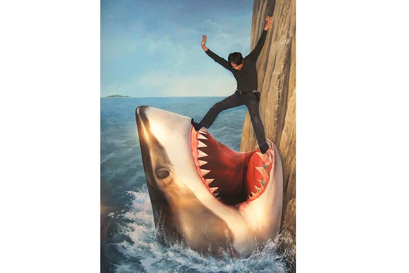 熱海トリックアート迷路館 サメ