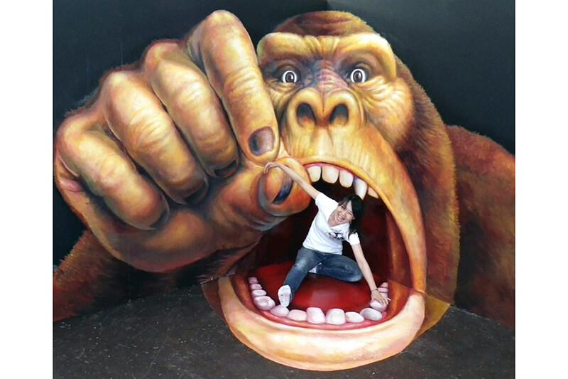 熱海トリックアート迷路館 大猿