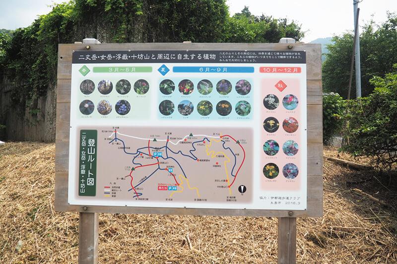加茂ゆらりんこ橋駐車場にある看板 photo by マッキー