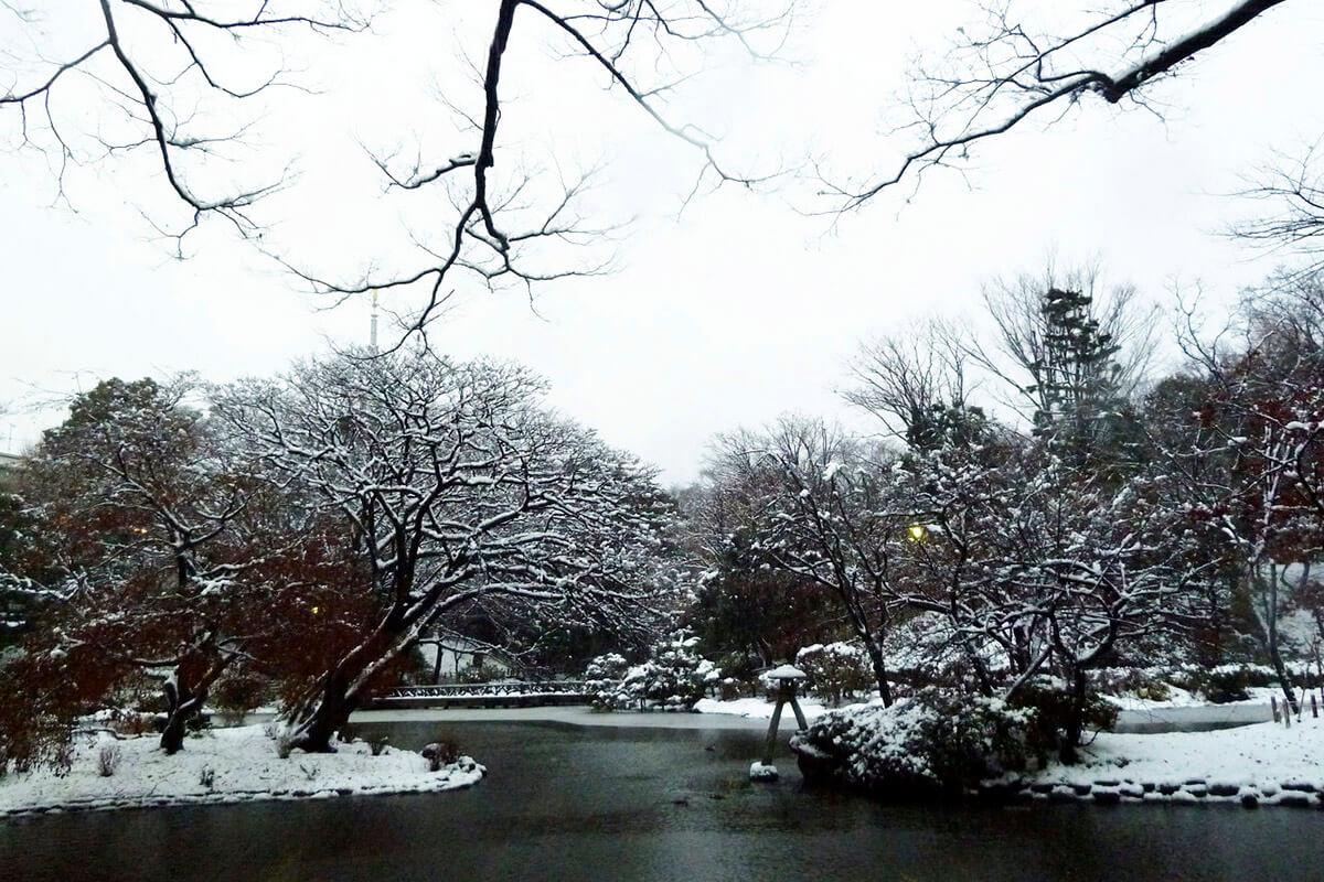 有栖川宮記念公園・雪景色