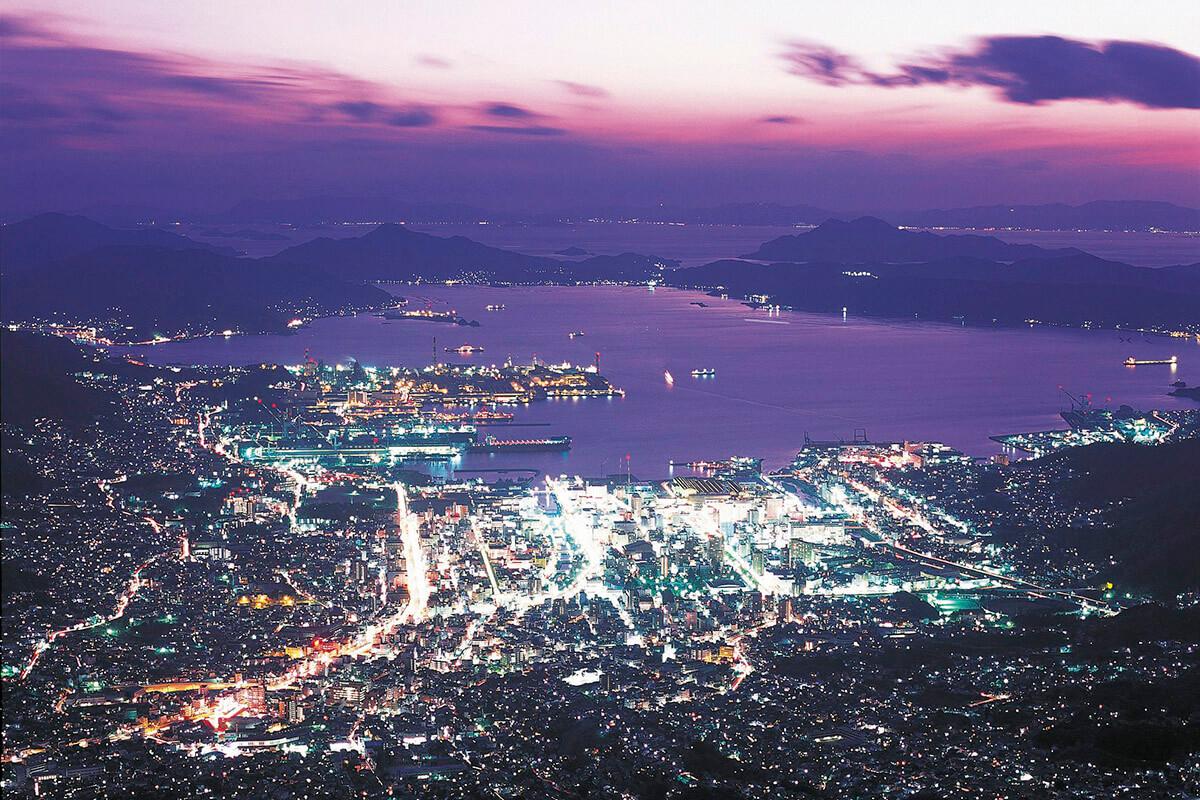 灰ヶ峰からの夜景