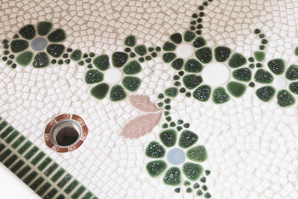 多治見市モザイクタイルミュージアム モザイクタイルの洗い場