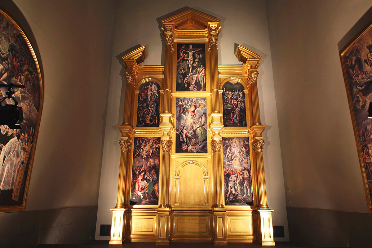 《エル・グレコの祭壇衝立復元》