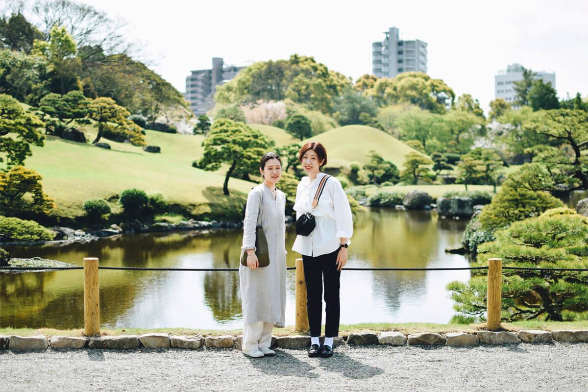 街中に佇む自然豊かな日本庭園「水前寺成趣園」