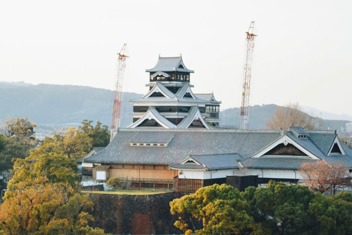 まだまだ復興工事中の「熊本城」