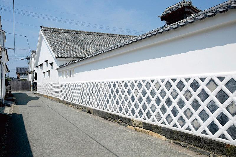 萩城城下町のなまこ壁
