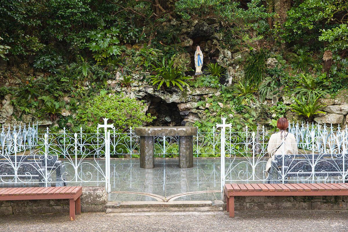 井持浦教会のルルド