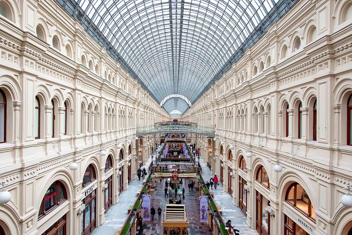ロシア・グム百貨店の内部