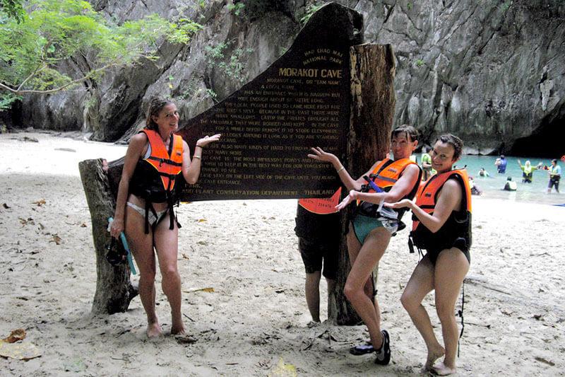 モラコット洞窟のビーチ