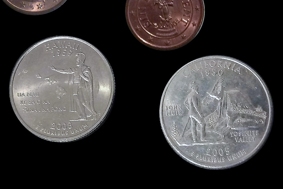 The 50 State Quarters ハワイとカリフォルニア
