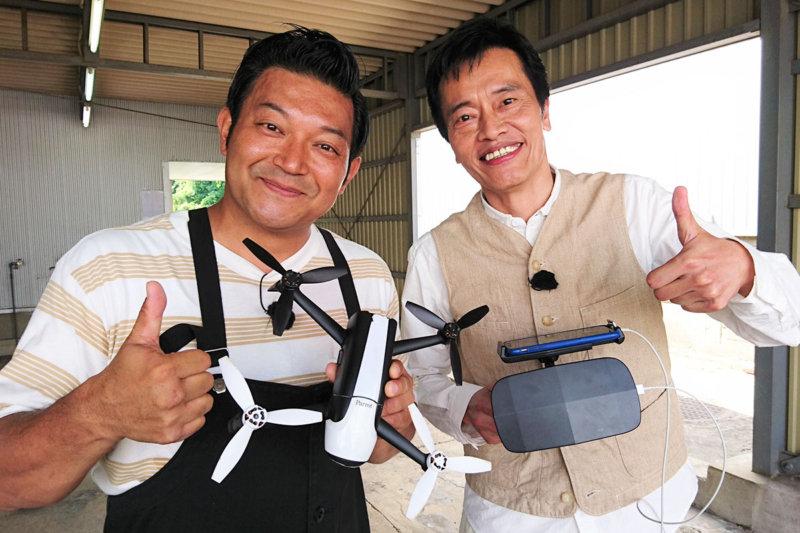 遠藤憲一とドローンに挑戦!眞鍋かをりと川越氷川神社で開運祈願も!
