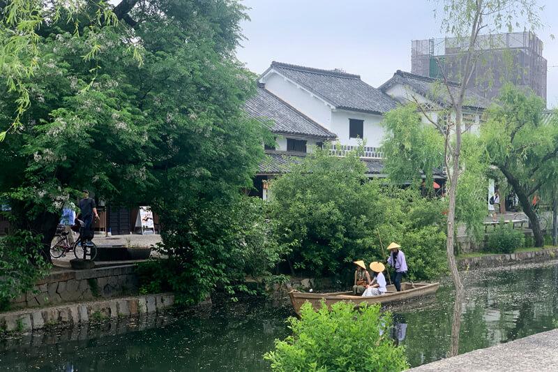 倉敷美観地区のくらしき川舟流し ©TBS