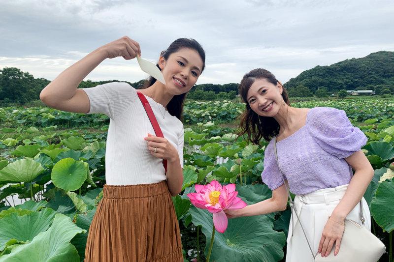 森理世と夢咲ねねが長崎県・雲仙へ。世界最古の花「大賀蓮」を見て、ご当地グルメを満喫!