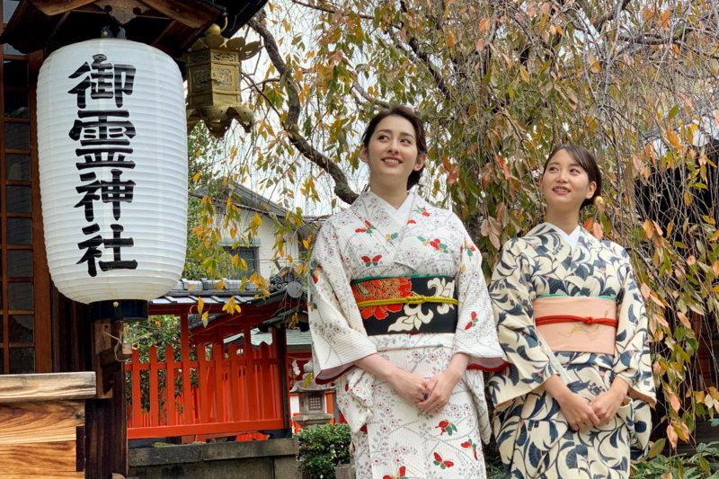 永尾まりやと早見あかりが古都・奈良を着物で散策&クリスマスムード一色の大阪USJへ